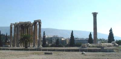 Общий вид на Храм Зевса