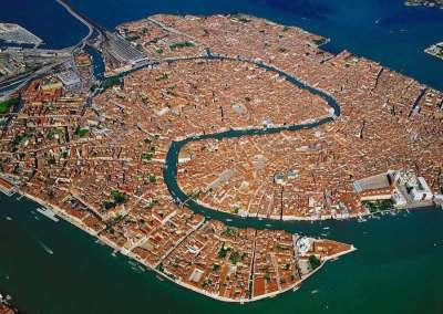 Фото Венеции, сделанное с самолета