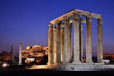 расположение храма Зевса