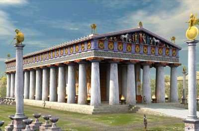 Храм Зевса. Реконструкция