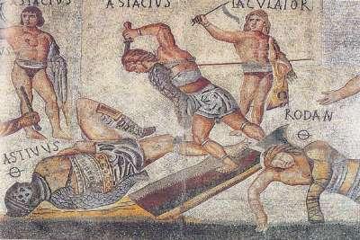 Римские мозаики на стенах Виллы Боргезе