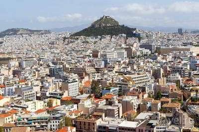 Афины. Вид с Акрополя.