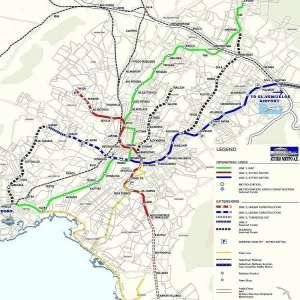 Карта афинского метро