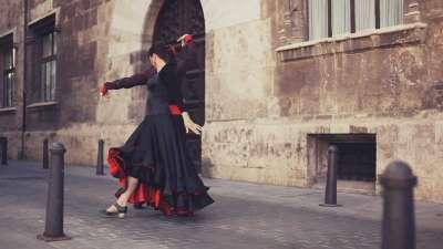 Фламенко на улицах Валенсии