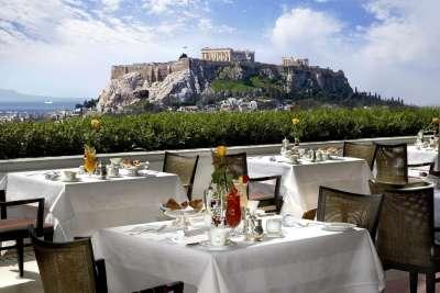 Вид с ресторана отеля Margi