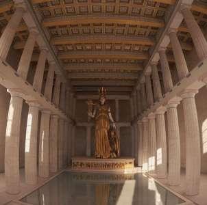 Святилище в Парфеноне. Реконструкция.