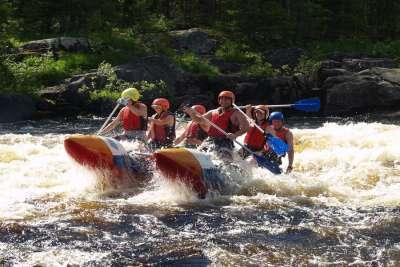 Активный отдых в Финляндии. Сплав по реке