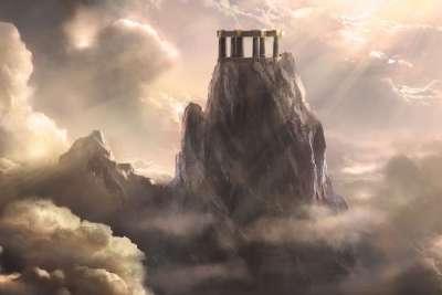 Иллюстрация горы Олимп