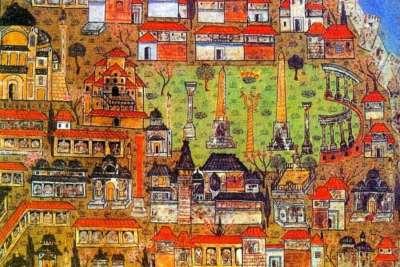 Площадь Ипподром. Изображение 16 века