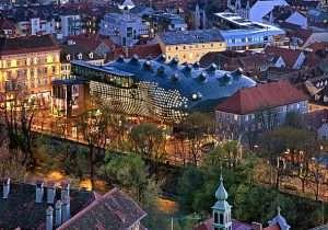 Ночной город Грац