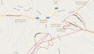 Ваграйн. Карта