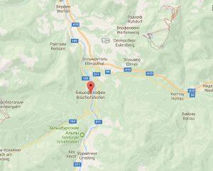 Бишофсхофен на карте