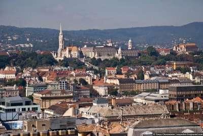 Столица Венгрии. Вид сверху