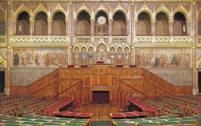 Венгерский парламент. Зал заседаний.
