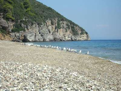 Мелкогалечный пляж