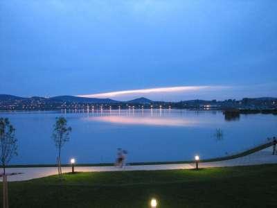 Озеро Веленце вечером