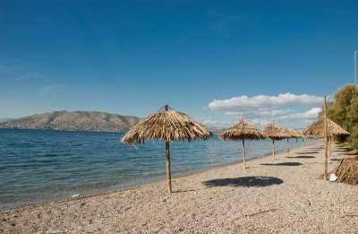 Песчаный пляж Эантио. Остров Саламин