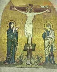 Распятие. Церковь Успения Богоматери. Монастырь Дафни