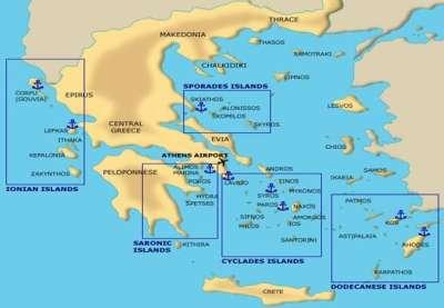 Скирос среди островов Греци