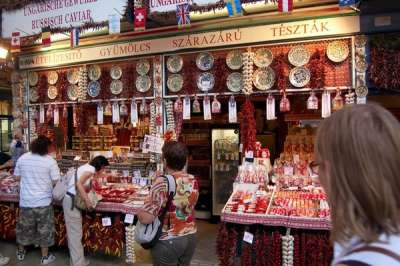 Сувениры на Центральном рынке Будапешта