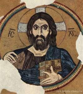 Христос пантократор. Купол собора в Дафни