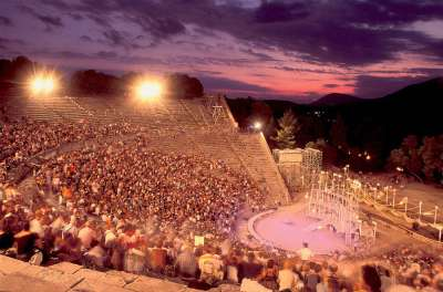 Современный мероприятия в древнем театре