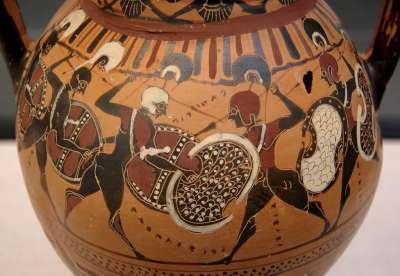 Спартанские воины. Древнее изображение