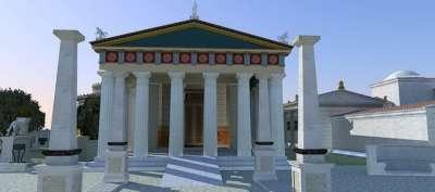 Храм Асклепия. Реконструкция