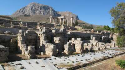 Акрокоринф. Вид с храма Аполлона