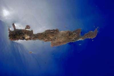 Остров Крит. Фото НАСА