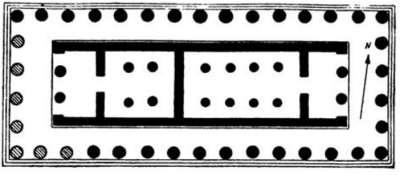 План Храма Аполлона в Коринфе