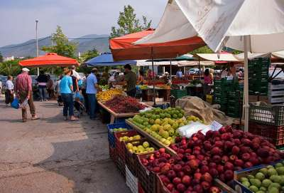 Рынок в Каламате