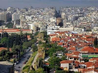 Салоники. Вид на город с высоты птичьего полета
