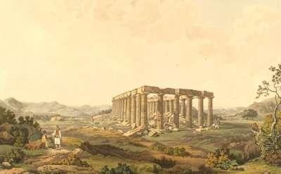 Храм аполлона Эпикурейского в Бассах. Картина 1821 года