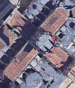 Вид Бургосского собора со спутника