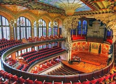 Дворец Каталонской музыки внутри