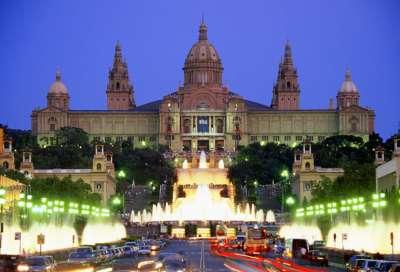 Каталонский музей. Вечерний вид